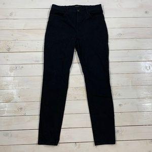 J BRAND Maria High-Rise Super Skinny Black Jeans